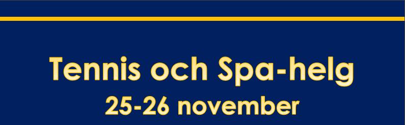 Tennis och Spa helg i Halmstad